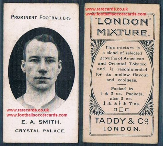 1914 London Mixture Taddy tobacco card of E.A. Smith Crystal Palace